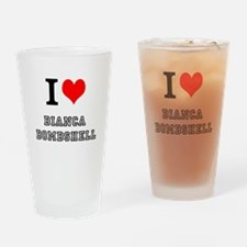 I Heart Bianca Bombshell Drinking Glass