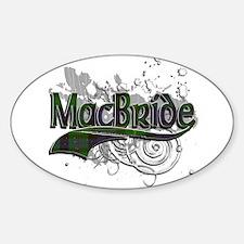 MacBride Tartan Grunge Sticker (Oval)