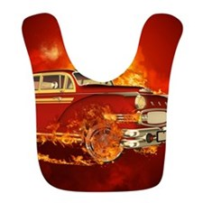 Red car with flame Bib