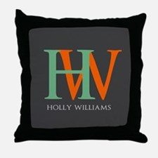 Large Monogram Personalized Throw Pillow