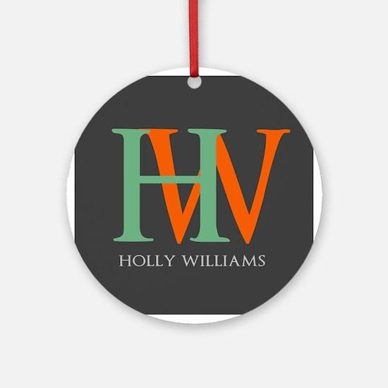 Large Monogram Personalized Ornament (Round)