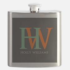 Large Monogram Personalized Flask