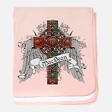MacBean Tartan Cross baby blanket