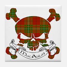 MacAulay Tartan Skull Tile Coaster