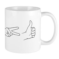 Rock, Paper, Scissors, Bomb Mugs