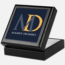 Elegant Custom Monogram Keepsake Box