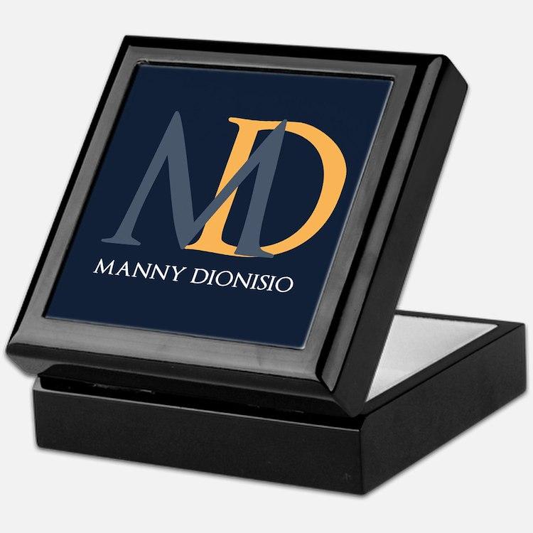 Elegant Custom Monogram Keepsake Box