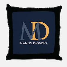 Elegant Custom Monogram Throw Pillow
