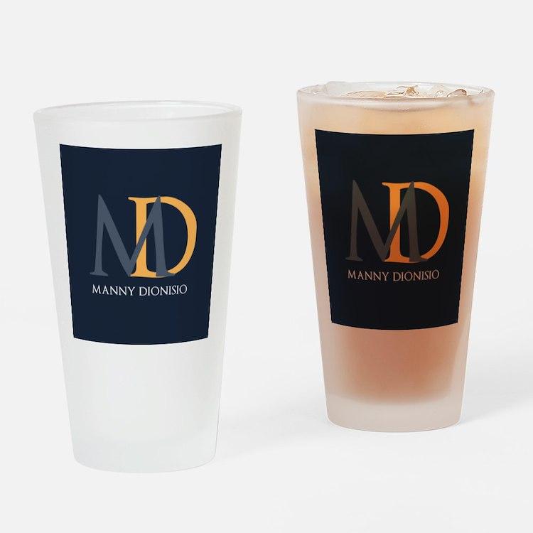 Elegant Custom Monogram Drinking Glass