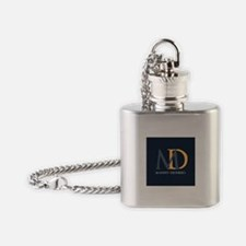 Elegant Custom Monogram Flask Necklace
