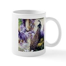 Bidau Peacock, Doves, Wisteria Mugs