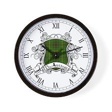 MacArthur Tartan Shield Wall Clock