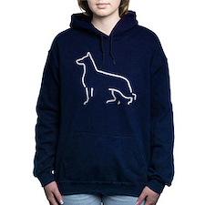 German Shepherd Dog Women's Hooded Sweatshirt