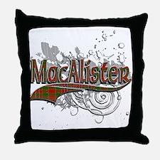 MacAlister Tartan Grunge Throw Pillow