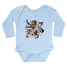 MacAlister Tartan Lion Long Sleeve Infant Bodysuit