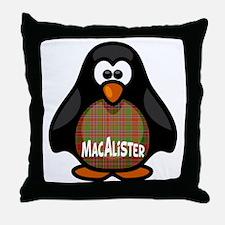MacAlister Tartan Penguin Throw Pillow