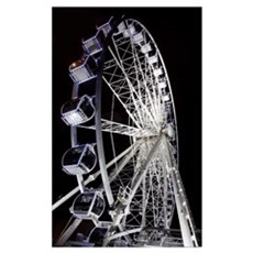 A Ferris Wheel Illuminated At Night, Middlesbrough Poster