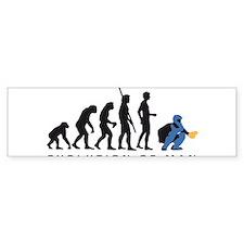 Evolution Baseball catcher B 3c Bumper Bumper Sticker