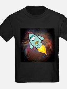 Fat Cat Rocketship (PNG6000) T-Shirt