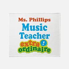 Music Teacher extraordinaire Throw Blanket