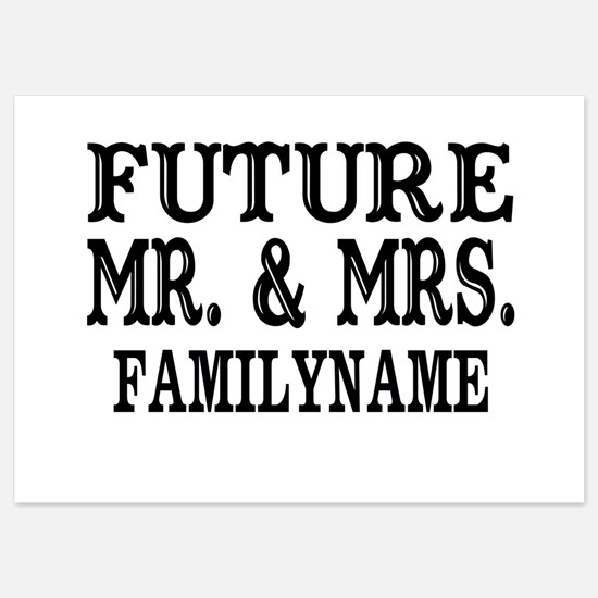 Future Mr. and Mrs. Personalized 5x7 Flat Cards