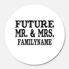 Future Mr. and Mrs. Personalized Round Car Magnet