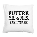 Mr and mrs Square Canvas Pillows