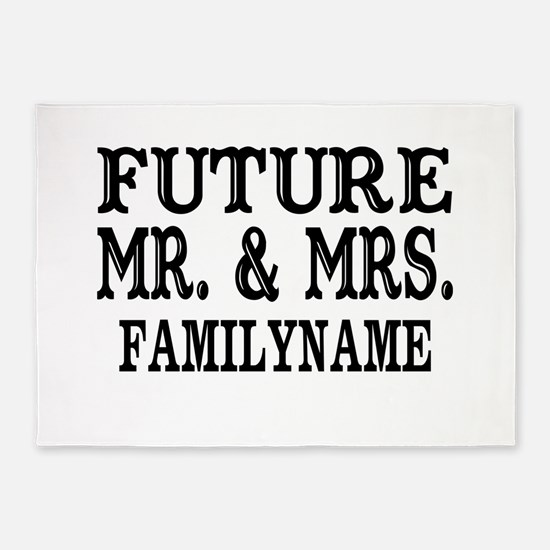 Future Mr. and Mrs. Personalized 5'x7'Area Rug