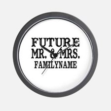 Future Mr. and Mrs. Personalized Wall Clock