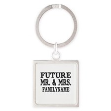 Future Mr. and Mrs. Personalized Square Keychain