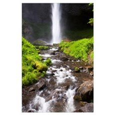 Latourell Falls In The Columbia River Gorge Nation Poster