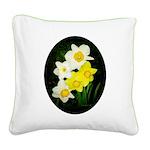 Daffodils Square Canvas Pillow