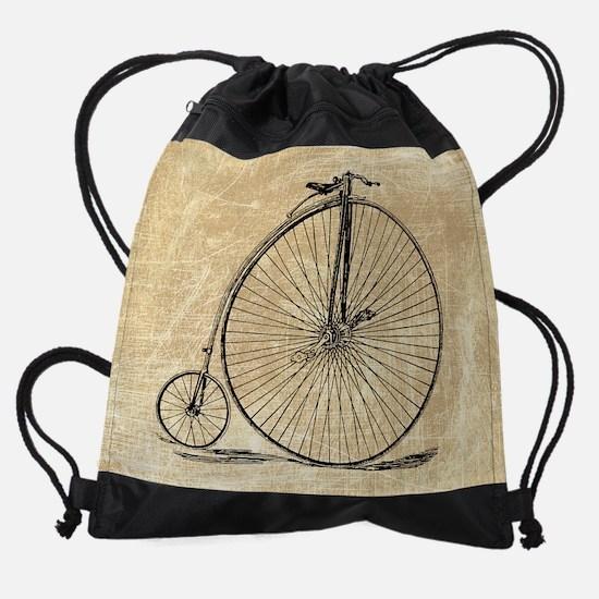 Vintage Penny Farthing Bicycle Drawstring Bag