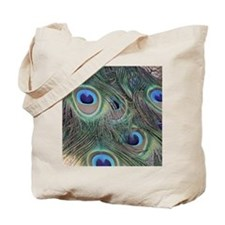 Peacock Feathers Tote Bag