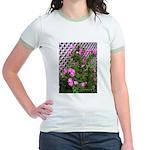 Roses and Trellis Jr. Ringer T-Shirt