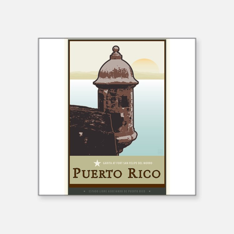 "Cute San juan Square Sticker 3"" x 3"""