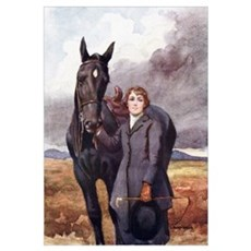 She Chose Me For Her Horse - Illustration By Lucy Framed Print