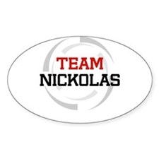 Nickolas Oval Decal