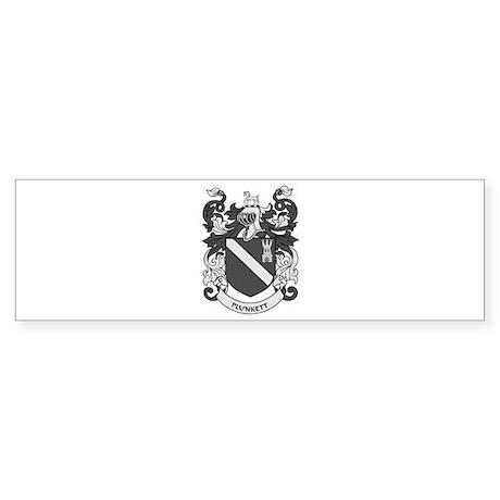 PLUNKETT Coat of Arms Bumper Sticker