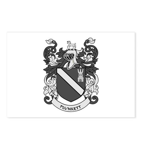 PLUNKETT Coat of Arms Postcards (Package of 8)