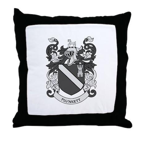 PLUNKETT Coat of Arms Throw Pillow