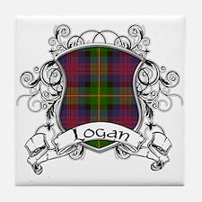Logan Tartan Shield Tile Coaster
