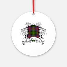 Logan Tartan Shield Ornament (Round)