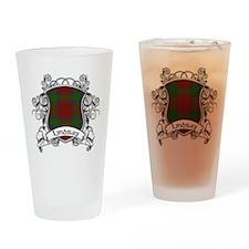 Lindsay Tartan Shield Drinking Glass
