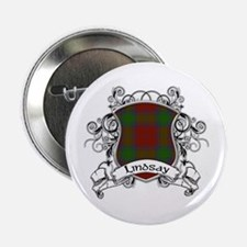 "Lindsay Tartan Shield 2.25"" Button"