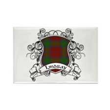 Lindsay Tartan Shield Rectangle Magnet