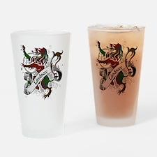 Lindsay Tartan Lion Drinking Glass