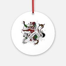 Lindsay Tartan Lion Ornament (Round)