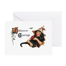 Happy Halloween Card with Cat Greeting Card