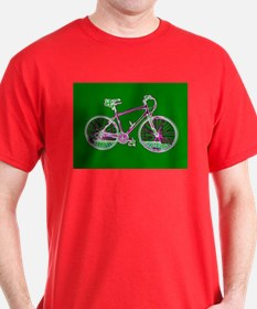 Ditch the Car Ride A Bicycle Green Designer T-Shir